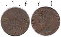 Изображение Монеты Франция 3 сентима 1795 Медь XF-