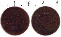 Изображение Монеты Росток 3 пфеннига 1864 Медь VF