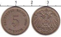 Изображение Монеты Германия 5 пфеннигов 1909 Медно-никель XF