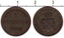 Изображение Монеты Саксен-Майнинген 1 пфенниг 1860 Медь XF-