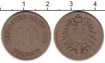 Изображение Монеты Германия 10 пфеннигов 1873 Медно-никель VF