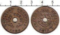 Изображение Монеты Великобритания Родезия 1 пенни 1934 Медно-никель XF-