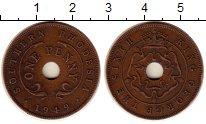 Изображение Монеты Великобритания Родезия 1 пенни 1949 Бронза VF