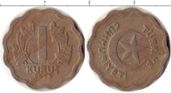 Картинка Монеты Турция 1 куруш Медно-никель 1939