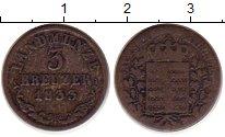 Изображение Монеты Германия Саксе-Мейнинген 3 крейцера 1833 Серебро VF