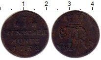 Изображение Монеты Германия Пруссия 1 пфенниг 1752 Медь VF