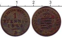 Изображение Монеты Саксония 1 пфенниг 1858 Медь XF-