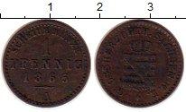 Изображение Монеты Германия Саксен-Веймар-Эйзенах 1 пфенниг 1865 Медь XF