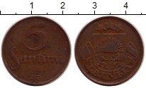 Изображение Монеты Латвия 50 сантим 1922 Бронза XF