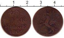 Изображение Монеты Германия Померания 3 пфеннига 1806 Медь VF
