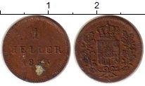 Изображение Монеты Бавария 1 геллер 1853 Медь XF
