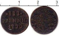 Изображение Монеты Германия Саксония 3 пфеннига 1779 Серебро VF