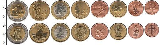 Изображение Наборы монет Ватикан Ватикан 2009 2009  UNC В наборе 8 монет ном
