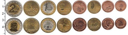 Изображение Наборы монет Эстония Эстония 2010 2010 Биметалл UNC Проба. В наборе 8 мо