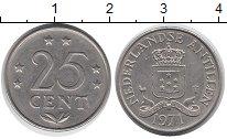 Изображение Монеты Нидерланды Антильские острова 25 центов 1971 Медно-никель XF