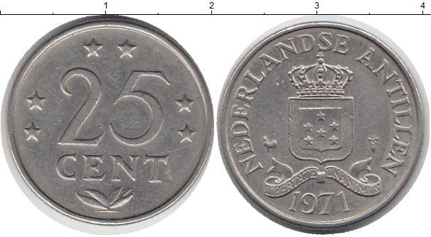 Картинка Монеты Антильские острова 25 центов Медно-никель 1971
