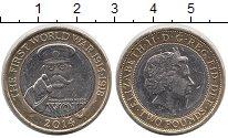 Изображение Монеты Великобритания 2 фунта 2014 Биметалл XF Елизавета II. 100-ле