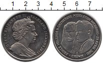 Изображение Монеты Великобритания Фолклендские острова 1 крона 2011 Медно-никель UNC-