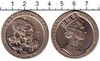 Изображение Монеты Остров Мэн 1 крона 1995 Медно-никель UNC- Год свиньи.