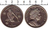 Изображение Монеты Остров Мэн 1 крона 2013 Медно-никель UNC- Олимпиада 2014 в Соч