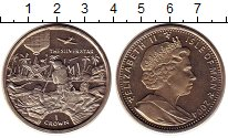 Изображение Монеты Остров Мэн 1 крона 2004 Медно-никель UNC- Серебряная звезда.