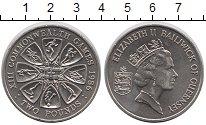 Изображение Монеты Гернси 2 фунта 1986 Медно-никель UNC Елизавета II.  XIII