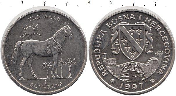 Картинка Монеты Босния и Герцеговина 1 суверен Медно-никель 1997