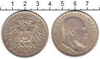 Изображение Монеты Вюртемберг 5 марок 1900 Серебро XF F. Вильгельм II