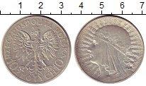 Изображение Монеты Польша 10 злотых 1933 Серебро XF Голова девушки в кол