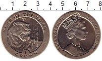 Изображение Монеты Остров Мэн 1 крона 1998 Медно-никель UNC- Год тигра.