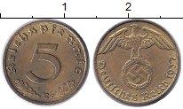 Изображение Монеты Третий Рейх 5 пфеннигов 1937 Латунь XF Е