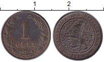 Изображение Монеты Нидерланды 1 цент 1880 Медь XF-