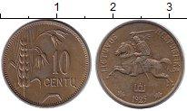 Изображение Монеты Литва 10 центов 1925 Латунь XF Всадник