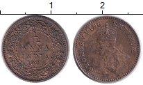 Изображение Монеты Индия 1/12 анны 1921 Бронза XF