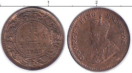 Картинка Монеты Индия 1/12 анны Бронза 1925