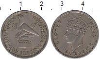 Изображение Монеты Родезия 1 шиллинг 1947 Медно-никель XF Георг VI