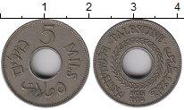 Изображение Монеты Палестина 5 милс 1935 Медно-никель XF