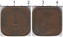 Изображение Монеты Великобритания Стрейтс-Сеттльмент 1 цент 1919 Бронза XF