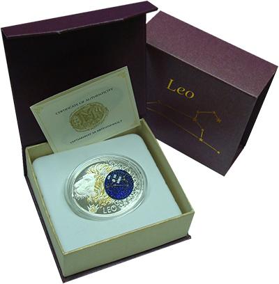 Изображение Подарочные монеты Македония Знаки зодиака 2014 Серебро Proof Монета номиналом 10