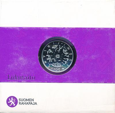 Изображение Подарочные монеты Финляндия 10 евро 2014 Серебро Proof 2014 год - Год Грамо