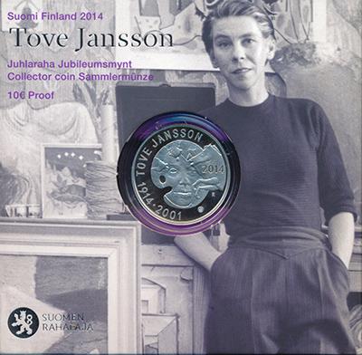 Изображение Подарочные монеты Финляндия 10 евро 2014 Серебро Proof