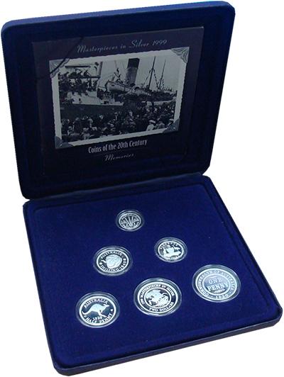 Изображение Подарочные монеты Австралия Монеты XX века 1999 Серебро Proof Набор посвящен монет