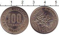 Изображение Монеты Габон 100 франков 1972 Медно-никель UNC- Антилопы