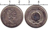 Изображение Монеты Канада 25 центов 2000 Медно-никель UNC- Миллениум. Семья