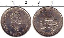 Изображение Монеты Канада 25 центов 2000 Медно-никель UNC- Человек с ребенком