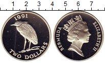 Изображение Монеты Великобритания Бермудские острова 2 доллара 1991 Серебро Proof
