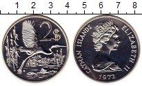 Изображение Монеты Каймановы острова 2 доллара 1972 Серебро UNC Птица,Елизавета II