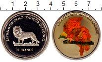 Изображение Монеты Конго 5 франков 2004 Медно-никель Proof Птица,призмы