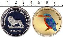 Изображение Монеты Конго 10 франков 2004 Серебро Proof Птица,призмы