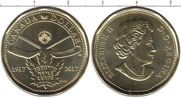 Картинка Мелочь Канада 1 доллар Латунь 2017